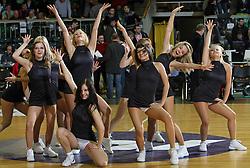Dance group Zmajcice during first semi-final match of Basketball NLB League at Final four tournament between KK Zadar, Croatia and Hemofarm Stada, Vrsac, Serbia, on April 25, 2008, in Arena Tivoli in Ljubljana. Match was won by Hemofarm Stada, who defeated KK Zadar with 81:72. (Photo by Vid Ponikvar / Sportal Images)