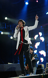 Sharleen Spiteri of Texas performs on stage..50,000 people filed into Murrayfield Stadium in Edinburgh, Scotland, on Wednesday July 6, 2005. The free gig, labelled Edinburgh 50,000 - The Final Push was the last of Bob Geldof's momentous Live 8 concerts..Pic ©2010 Michael Schofield. All Rights Reserved.