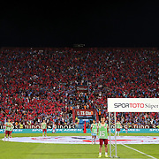 Trabzonspor's supporters during their Turkish Super League Derby match Trabzonspor between Galatasaray at the Avni Aker Stadium at Trabzon Turkey on Saturday, 19 September 2015. Photo by TVPN/TURKPIX