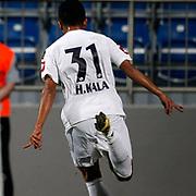 Kasimpasa's Celebrates his goal Huseyin Kala during their Turkish Superleague soccer match Kasimpasa between Fenerbahce at the Recep Tayyip Erdogan stadium in Istanbul Turkey on Saturday 29 September 2012. Photo by TURKPIX