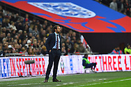 England manager Gareth Southgate during the UEFA European 2020 Qualifier match between England and Czech Republic at Wembley Stadium, London, England on 22 March 2019.
