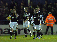 Photo: Olly Greenwood.<br />Colchester United v Hull City. Coca Cola Championship. 28/11/2006. Hull players look dejected as Colchester score there 2nd goal