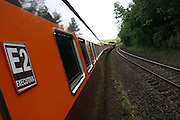 Barao de Cocais_MG, Brasil. ..Trem de passageiros da Estrada de Ferro Vitoria-Minas...The passenger train of the Railroad Vitoria-Minas...Foto: MARCUS DESIMONI / NITRO
