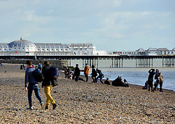 © Licensed to London News Pictures. 02/02/2013. Brighton, UK People enjoy the winter sun at Brighton sea front today 2nd February 2013. Photo credit : Stephen Simpson/LNP