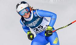 15.02.2021, Cortina, ITA, FIS Weltmeisterschaften Ski Alpin, Alpine Kombination, Damen, Super G, im Bild Elvedina Muzaferija (BIH) // Elvedina Muzaferija of Bosnia and Herzegovina reacts after the Super G competition for the women's alpine combined of FIS Alpine Ski World Championships 2021 in Cortina, Italy on 2021/02/15. EXPA Pictures © 2021, PhotoCredit: EXPA/ Erich Spiess