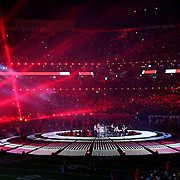 The WHO perform at NFL Super Bowl 44 between the New Orleans Saints and the Indianapolis Colts on Feb. 7, 2010 at SunLife Stadium in Miami Gardens, Florida. The Saints won the game 31-17. .Photo: Alex Menendez