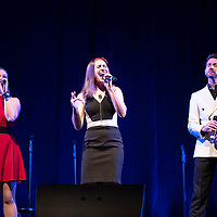 Left to right, Tristin Rupp, Marie Nicole and Jeff Grider, members of 7th Ave. perform Friday, March 29 at El Morro Theatre.