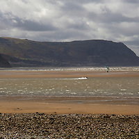 Europe, United Kingdom, Wales. Conwy Bay off the The Great Orme Heritage Coast, Wales.
