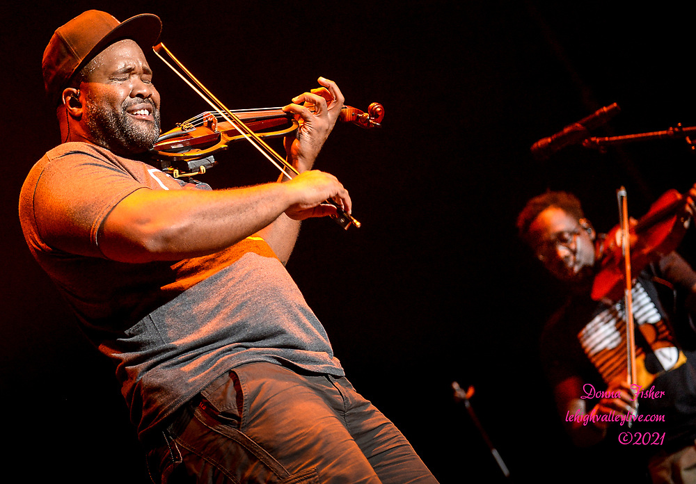 Black Violin performs on the Wind Creek Steel Stage at Musikfest. Black Violin and Contact Collective play at Musikfest on August 15, 2021. Musikfest, a festival of ArtsQuest, is held August 6 –15, 2021 in Bethlehem, Pa..