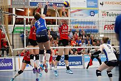 20170430 NED: Eredivisie, VC Sneek - Sliedrecht Sport: Sneek<br />Nienke Tromp (9) of VC Sneek, Klaske Sikkes (10) of VC Sneek <br />©2017-FotoHoogendoorn.nl / Pim Waslander