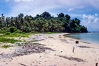 Riau Islands, Natuna Islands. Beach, fishermen have some small huts under the trees where they can stay during the night.  Southwest Natuna. small island just north of Kalimantan.