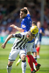 Cowdenbeath's Mohammed Yakud and Dunfermline's Michael Paton. <br /> Dunfermline 7 v 1 Cowdenbeath, SPFL Ladbrokes League Division One game played 15/8/2015 at East End Park.