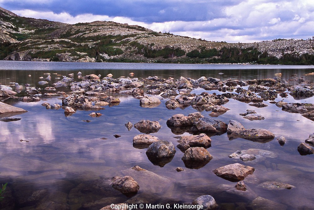 Lost Lake found along the Glacier Lakes trail.  Snowy Mountains, Wyoming.  USA