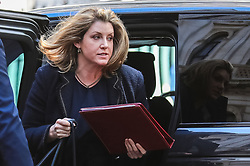 © Licensed to London News Pictures. 14/05/2019. London, UK. Defence Secretary Penny Mordaunt returns to 10 Downing Street for a meeting of the National Security Council. Photo credit: Rob Pinney/LNP