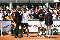 May 25, 2018 - Paris, France - Carlos Moya et Rafael Nadal (ESP) - Decima Babolat (Credit Image: © Panoramic via ZUMA Press)