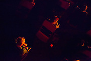 """Audience members listen attentively to the Pan Pan Theatre Company's version of Samuel Beckett's """"All That Fall"""""""