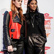 NLD/Amsterdam/20131109 - Pressconference MTV EMA 2013, Icona Pop, Caroline Hjelt and Aino Jawo