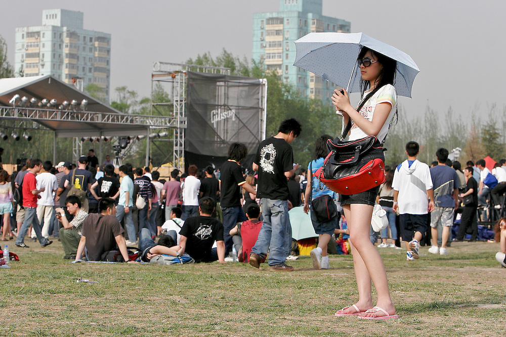 Midi Festival in Beijing China 2007.  Midi is an  rock music festival held in northern Beijing catering to a small group of music listeners in China.  The festival lasts 4 days and gives performances from Chinese and international bands.