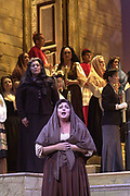 GASTON DE CARDENAS/El NUEVO HERALD -- Eugenie Grunewald during a dress rehearsal Florida Grand Opera presentation of Cavalleria Rusticana at the Dade County Audtorium in Miami.