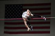 Jacob Wooten wins the elite men's competition at 19-2 1/4 (5.85m) during the National Pole Vault Summit, Friday, Jan. 17, 2020, in Reno, Nev.