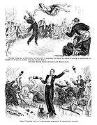 """[Though things are a little better, we have still to economise, you know, so, instead of getting in professionals we thought we'd have an amateur Non-stop Variety Show.] Our two Rugger Blues chucked Lady Helen aloft. """"Softy"""" Madden gave us a devastating exhibition of nonchalant juggling."""