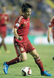 08.09.2014, Estadi Ciutat de Valencia, Valencia, ESP, UEFA Euro 2016 Qualifikation, Spanien vs Mazedonien, Gruppe C, im Bild Spain's David Jimenez Silva // during the UEFA EURO 2016 Qualifier group D match between Spain and Macedonia at the Estadi Ciutat de Valencia in Valencia, Spain on 2014/09/08<br /> <br /> *** NETHERLANDS ONLY ***
