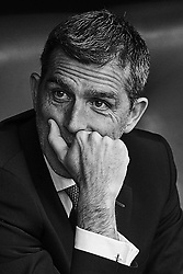 March 4, 2018 - Valencia, Valencia, Spain - (EDITORS NOTE: the image has been converted to black and white) Juan Ramon Lopez Muniz head coach of Levante UD looks on prior to the La Liga match between Levante UD and RCD Espanyol at Ciutat de Valencia on March 4, 2018 in Valencia, Spain  (Credit Image: © David Aliaga/NurPhoto via ZUMA Press)