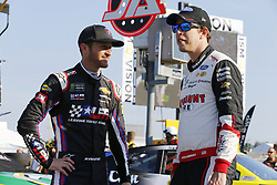 July 13, 2018 - Sparta, Kentucky, United States of America - Kasey Kahne (95) and Brad Keselowski (2) hang out on pit road before qualifying for the Quaker State 400 at Kentucky Speedway in Sparta, Kentucky. (Credit Image: © Chris Owens Asp Inc/ASP via ZUMA Wire)