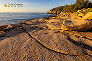 Otter Cliffs at sunrise n Acadia National Park, Maine, USA