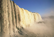 Iguazu Falls<br /> 'Largest waterfall in the world'<br /> Border of ARGENTINA & BRAZIL<br /> South America