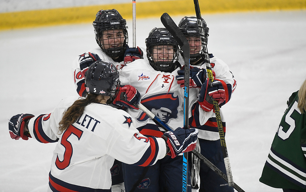 PITTSBURGH, PA - DECEMBER 07: at Colonials Arena on December 7, 2019 in Pittsburgh, Pennsylvania. (Photo by Justin Berl/RMU Athletics)