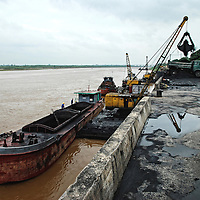 Vietnam   Industry   Charcoal Harbour along Red river