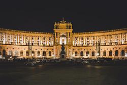 THEMENBILD - Aussenansicht der Österreichischen Nationalbibliothek bei Nacht, aufgenommen am 10. Juni 2018 in Wien, Österreich // Exterior of the Austrian National Library at night, Vienna, Austria on 2018/06/10. EXPA Pictures © 2018, PhotoCredit: EXPA/ JFK