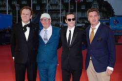 John C. Reilly, Jacques Audiard, Joaquin Phoenix, Thomas Bidegain attending the premiere of The Sisters Brothers during the 44th Deauville American Film Festival in Deauville, France on September 4, 2018. Photo by Julien Reynaud/APS-Medias/ABACAPRESS.COM