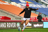 Billy Twelvetrees of Gloucester Rugby during the Gallagher Premiership Rugby match between Leicester Tigers and Gloucester Rugby at Welford Road Stadium, Leicester, United Kingdom on 21 November 2020.