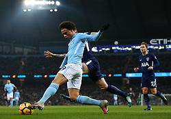 Leroy Sane of Manchester City crosses under pressure from Kieran Trippier of Tottenham Hotspur - Mandatory by-line: Matt McNulty/JMP - 16/12/2017 - FOOTBALL - Etihad Stadium - Manchester, England - Manchester City v Tottenham Hotspur - Premier League
