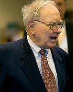 Omaha, Neb 5/6/06 Warren Buffet walks the floor at the Berkshire Hathaway annual meeting in the Qwest Center Omaha Saturday Morning.(Chris Machian/Prairie Pixel Group)