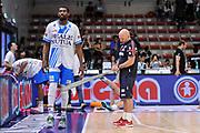 DESCRIZIONE : Campionato 2014/15 Dinamo Banco di Sardegna Sassari - Olimpia EA7 Emporio Armani Milano Playoff Semifinale Gara3<br /> GIOCATORE : Shane Lawal Matteo Boccolini<br /> CATEGORIA : Stretching Before Pregame<br /> SQUADRA : Dinamo Banco di Sardegna Sassari<br /> EVENTO : LegaBasket Serie A Beko 2014/2015 Playoff Semifinale Gara3<br /> GARA : Dinamo Banco di Sardegna Sassari - Olimpia EA7 Emporio Armani Milano Gara4<br /> DATA : 02/06/2015<br /> SPORT : Pallacanestro <br /> AUTORE : Agenzia Ciamillo-Castoria/L.Canu