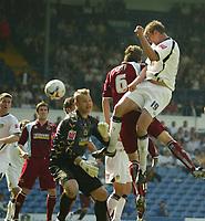 Photo: Aidan Ellis.<br /> Leeds United v Burnley. Coca Cola Championship. 14/04/2007.<br /> Leeds Matt Heath scores the first goal