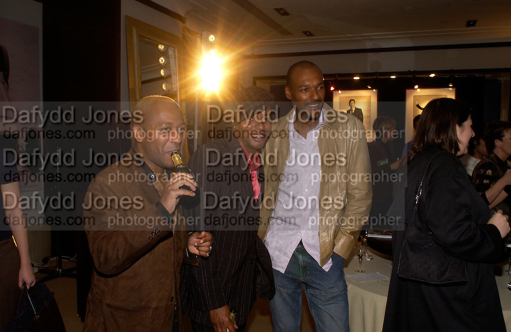 Ruvel Fraser, Leee John and Colin Salmon, Alfred Dunhill, U.K. Film Council and Vanity Fair host party to celebrate portraits by David Bailey. dunhill, Jermyn St. 28 September 2004. SUPPLIED FOR ONE-TIME USE ONLY-DO NOT ARCHIVE. © Copyright Photograph by Dafydd Jones 66 Stockwell Park Rd. London SW9 0DA Tel 020 7733 0108 www.dafjones.com