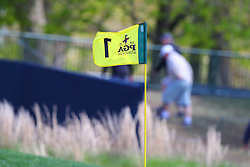 May 15, 2019 - Farmingdale, NY, U.S. - FARMINGDALE, NY - MAY 15:  A general view of the Flag at the 1st hole during the PGA Championship on May 15, 2019 at Bethpage State Park the Black Course in Farmingdale, NY.  (Photo by Rich Graessle/Icon Sportswire) (Credit Image: © Rich Graessle/Icon SMI via ZUMA Press)