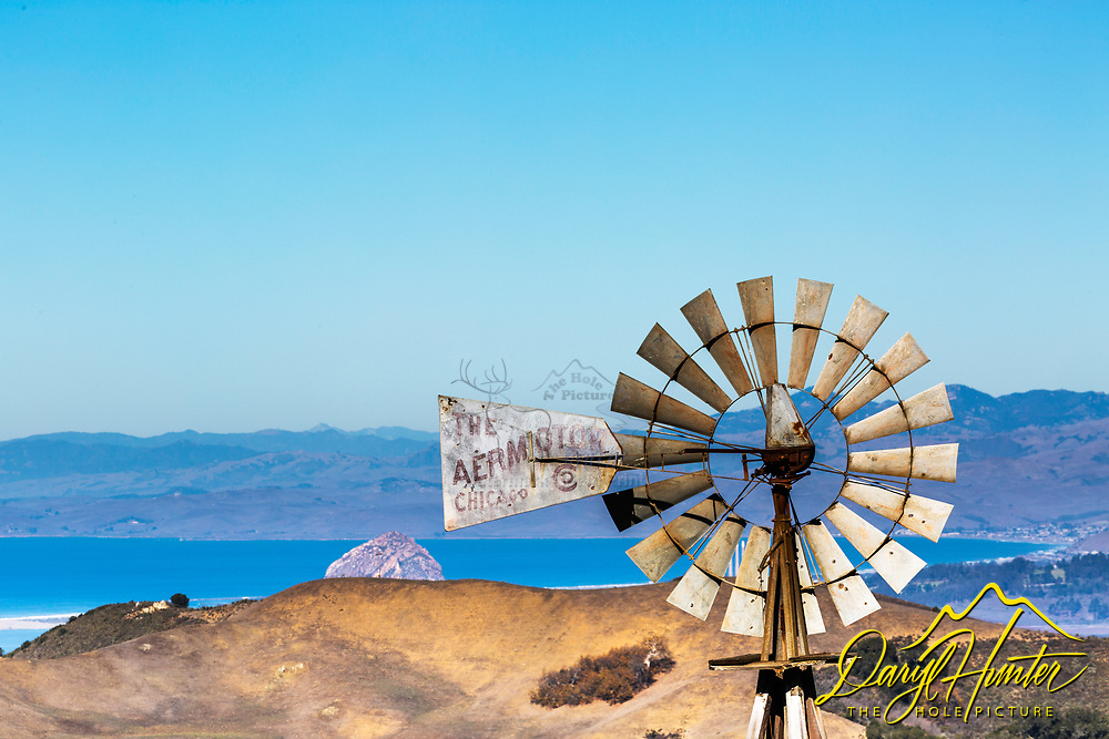 Windmill on Perfumo Canyon Road in San Luis Obispo California.  Great view from up there of Morro Rock and Estero Bay to the north