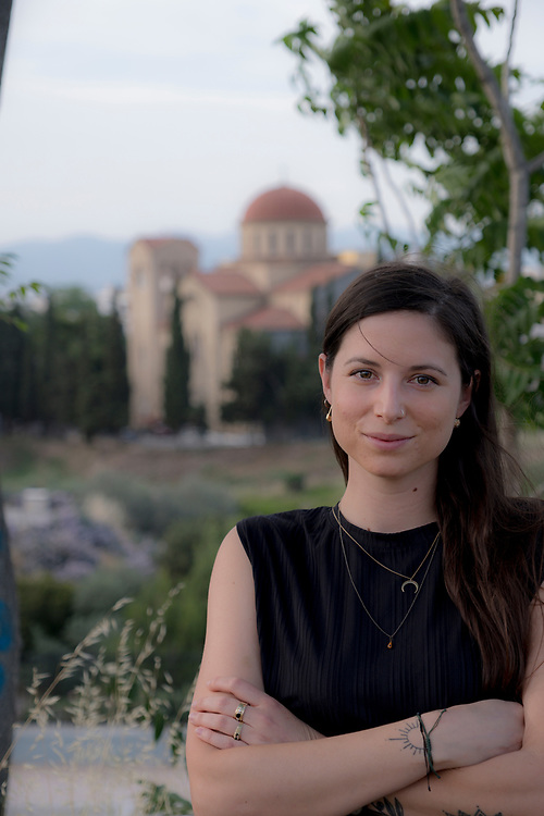 Ms Alexia Stamatelatou an Athenian, 27 years old photographed in the centre of Athens,