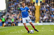 Portsmouth Midfielder, Kal Naismith (22) during the EFL Sky Bet League 2 match between Portsmouth and Cambridge United at Fratton Park, Portsmouth, England on 22 April 2017. Photo by Adam Rivers.