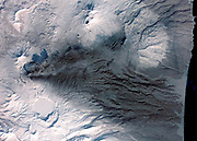Early March eruptions of Karymsky volcano on Russias Kamchatka Peninsula. March 6, 2009. Satellite image.