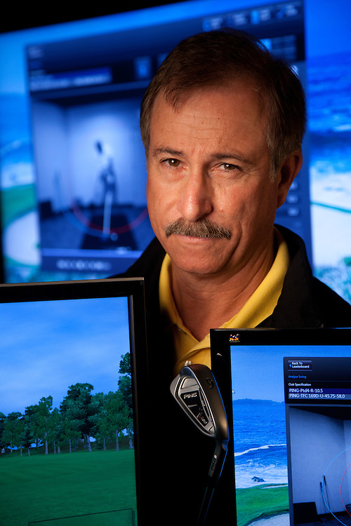 PHOENIX, AZ - DECEMBER 1: Mike Nicolette, club designer at Ping Golf. Photographed at Ping Golf headquarters in Phoenix, Arizona on December 1, 2011.  (Photograph ©2011 Darren Carroll)