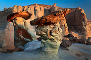 Sandstone hoodoos in the Glen Canyon Nation Recreation Area