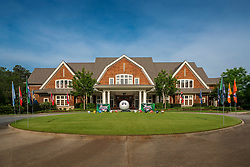 General exterior view of the Oconee Club Golf Course clubhouse on Monday, April 29, 2019, in Greensboro, GA. (Paul Abell via Abell Images for Chick-fil-A Peach Bowl Challenge)
