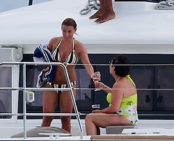 EXCLUSIVE: Coleen Rooney and family pictured on a catamaran in Barbados. 28 May 2018 Pictured: Coleen Rooney. Photo credit: Vantage News/ MEGA TheMegaAgency.com +1 888 505 6342