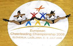 Midal, Croatia at European Cheerleading Championship 2008, on July 5, 2008, in Arena Tivoli, Ljubljana, Slovenia. (Photo by Vid Ponikvar / Sportal Images).
